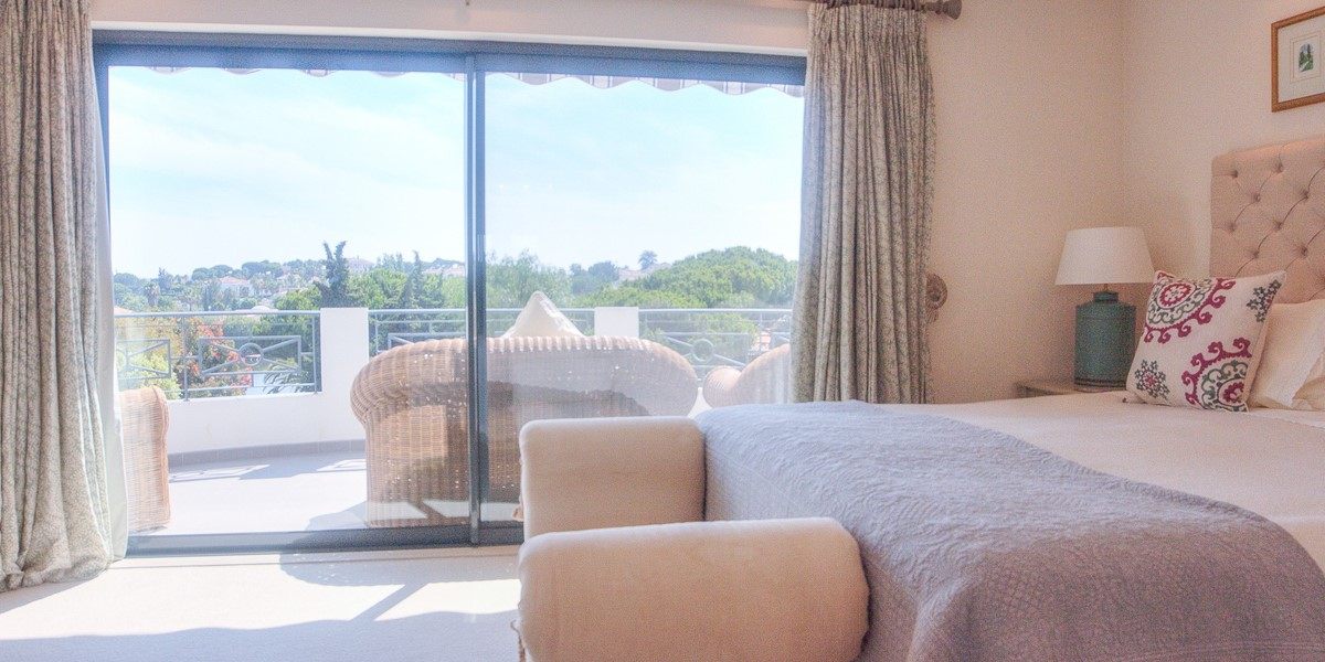 Master Bedroom With Terrace And Views To Pool And Garden