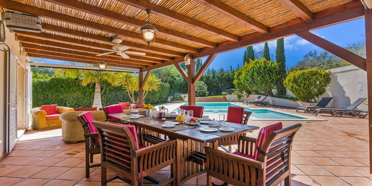 Outside Dining Villa Rental Almancil