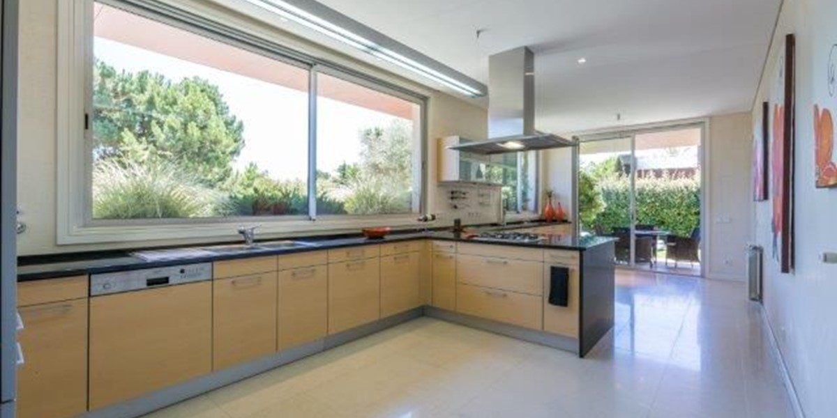 Light And Spacious Fully Equipped Kitchen In Holiday Villa