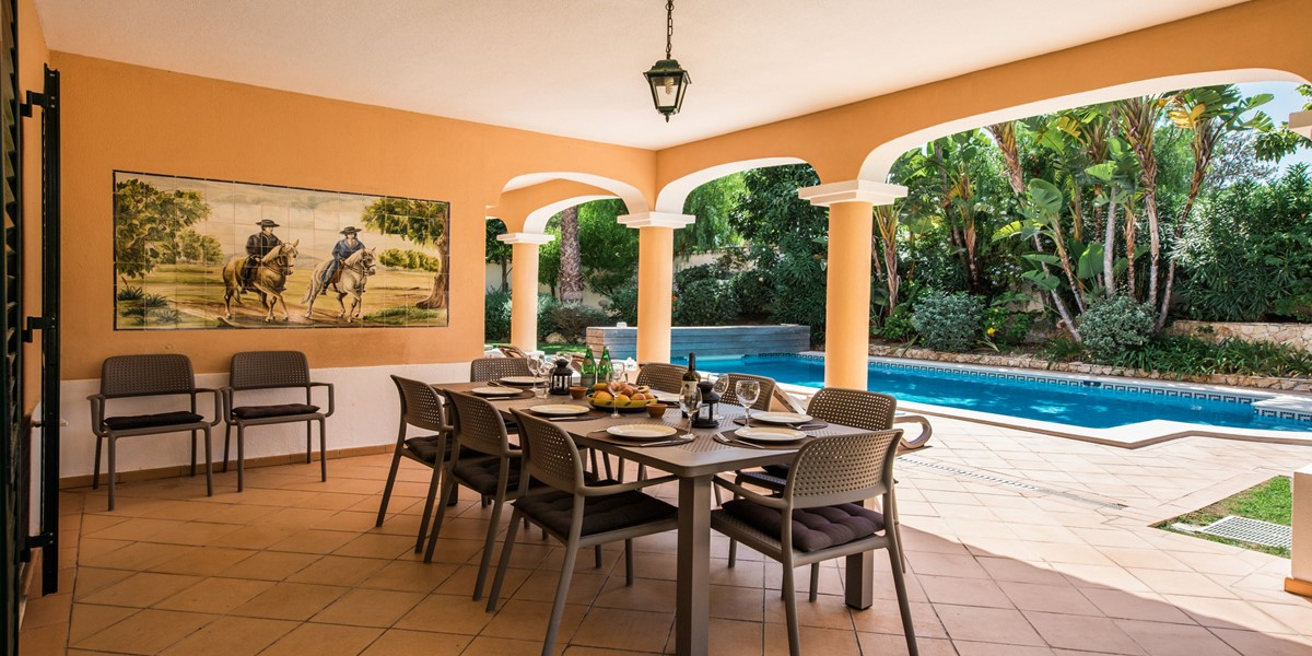 Large Outside Dining Table Holiday Rental Villa Portugal