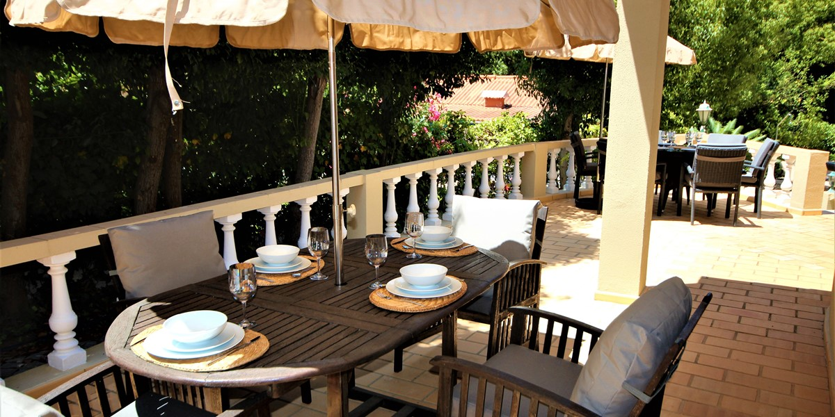 Outdoor Seating And Dining In Vacation Rental Property Portugal