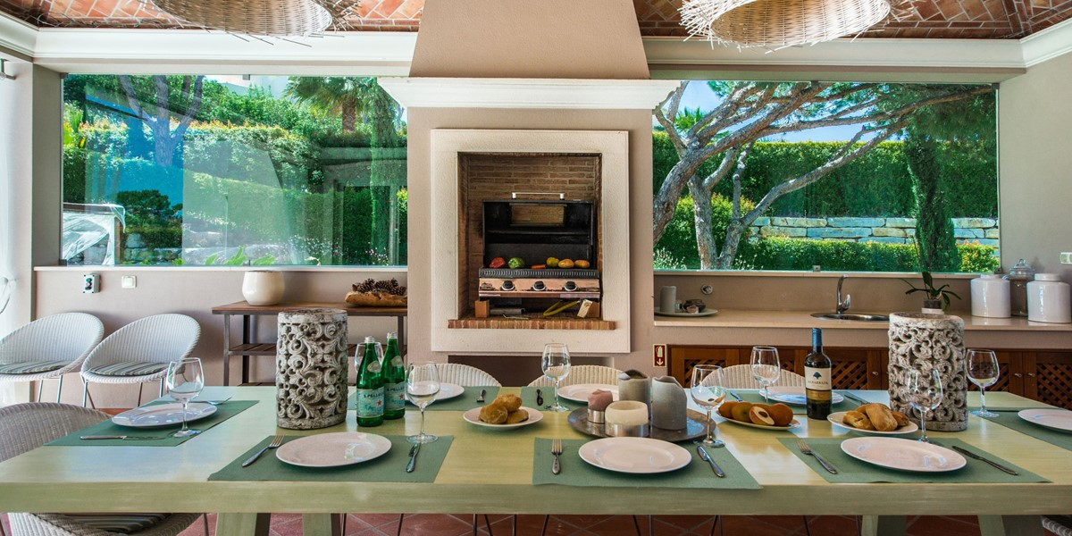 Outside Dining Area Holiday Rental Villa Quinta Do Lago