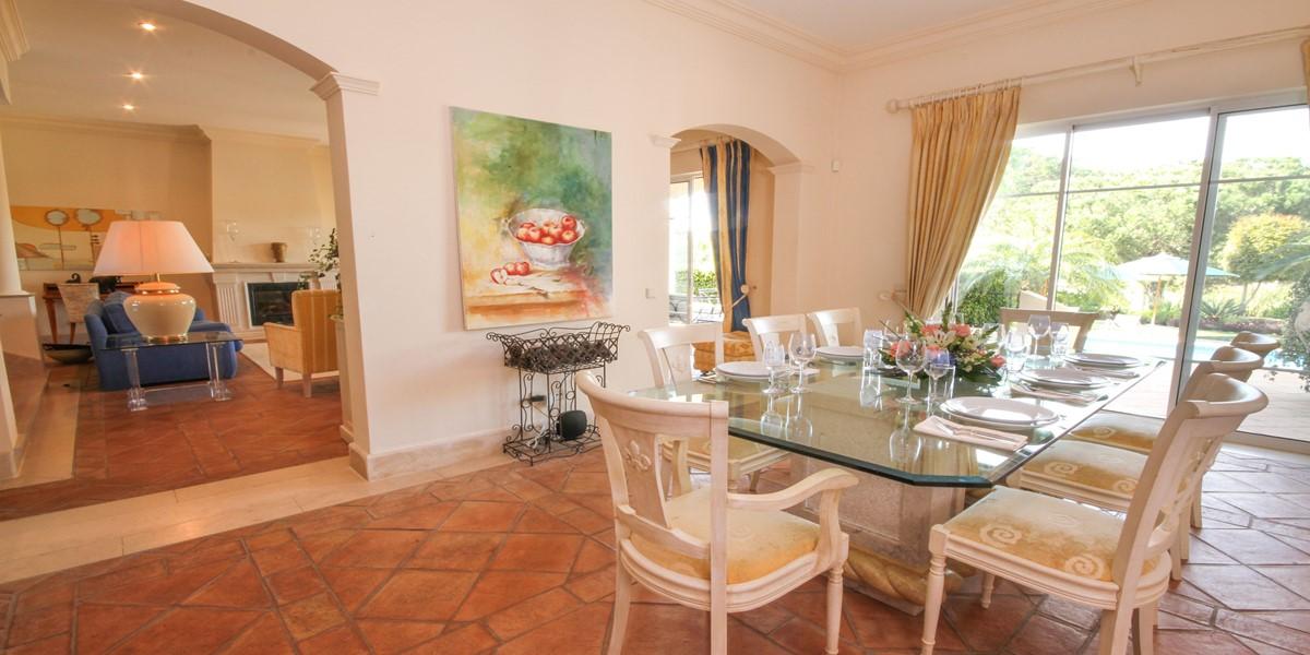 Dining Area Vacation Rental Villa Quinta Do Lago