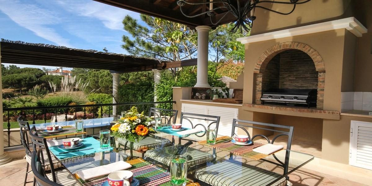 Exterior Dining Holiday Rental Villa Quinta Do Lago