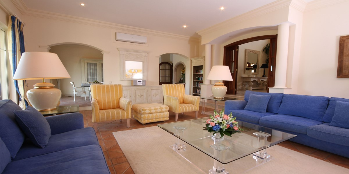 Living Room Holiday Rental Villa Quinta Do Lago