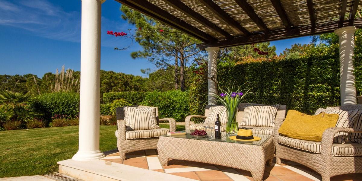 Outside Seating Area Vacation Villa Rental Quinta Do Lago