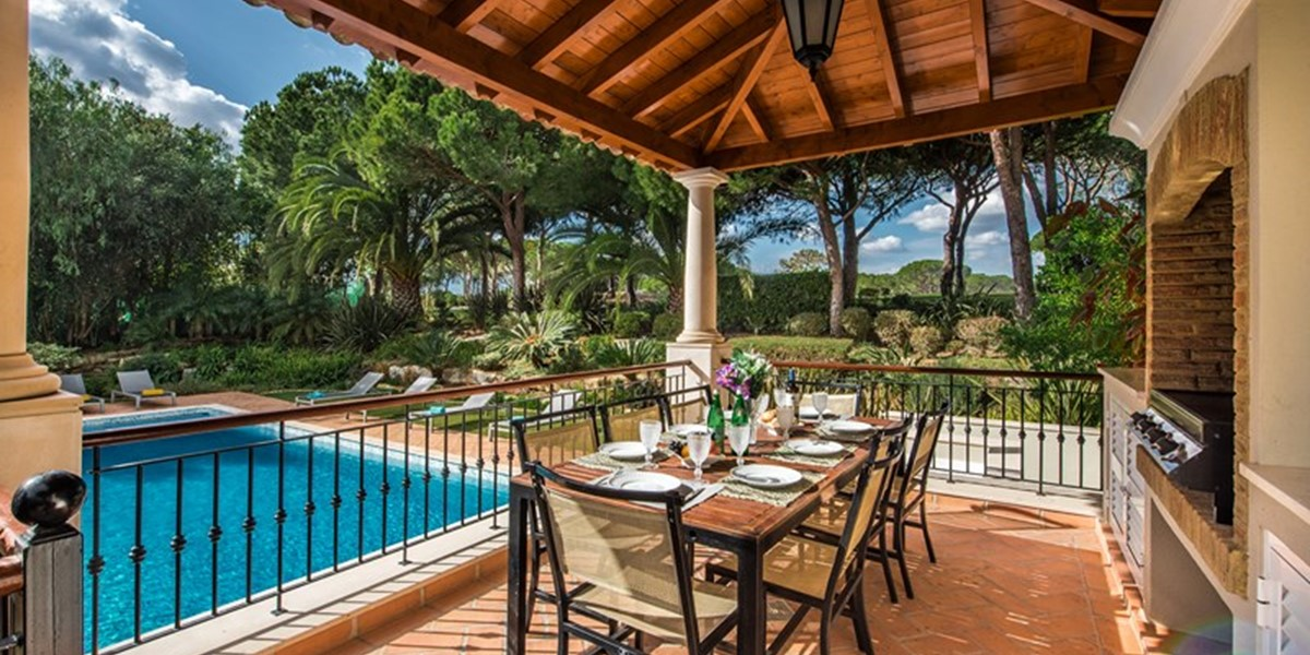 Exterior Dining With Swimming Pool View Quinta Do Lago