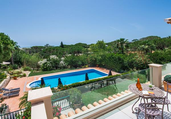 Private Terrace Overlooking Swimming Pool Rental Villa Quinta Do Lago