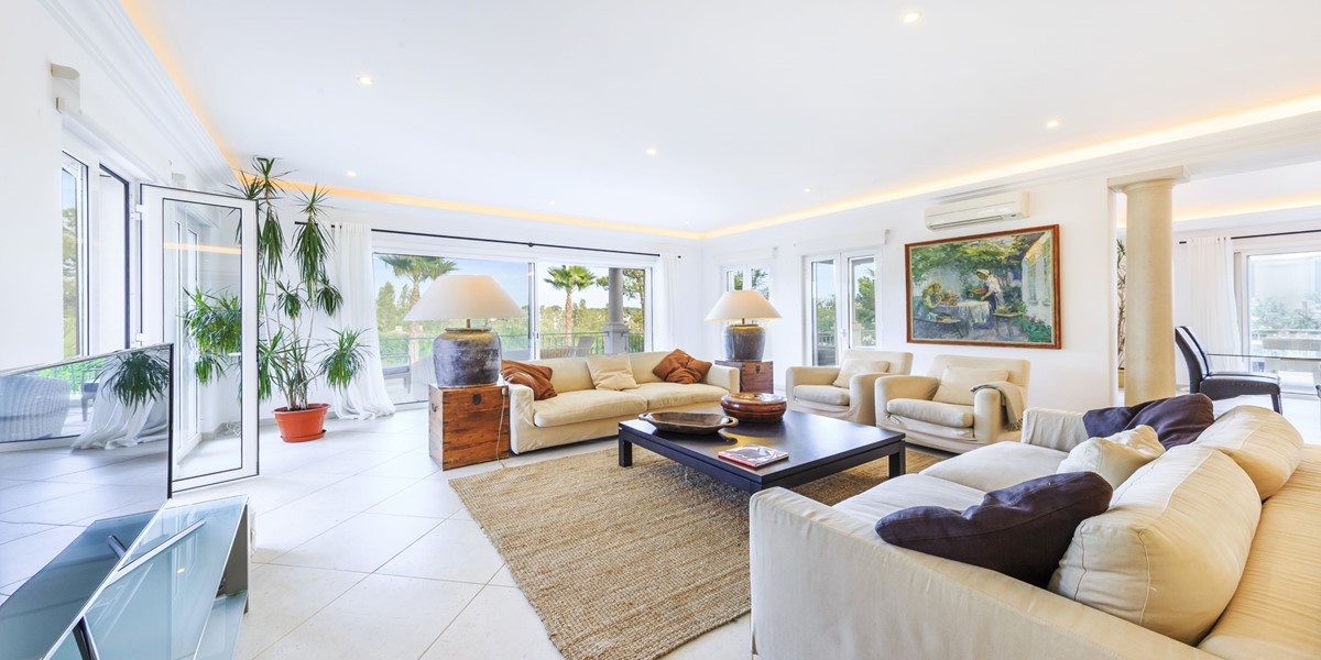 Comfortable Living Room Villa Rental Algarve