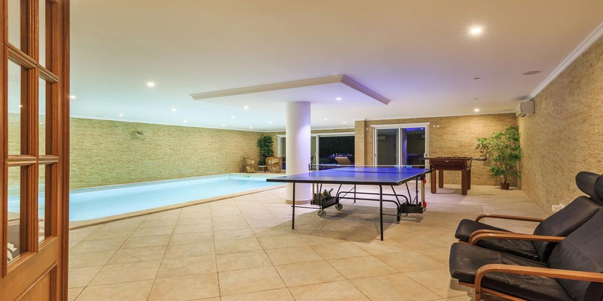 Indoor Swimming Pool Encosta Do Lago Vacation Rental Villa Quinta Do Lago