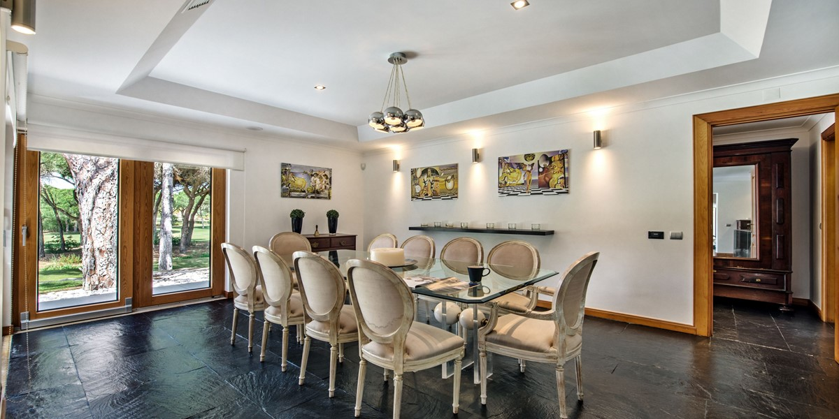 Indoor Dining Table Vaaction Rental Villa Vilamoura
