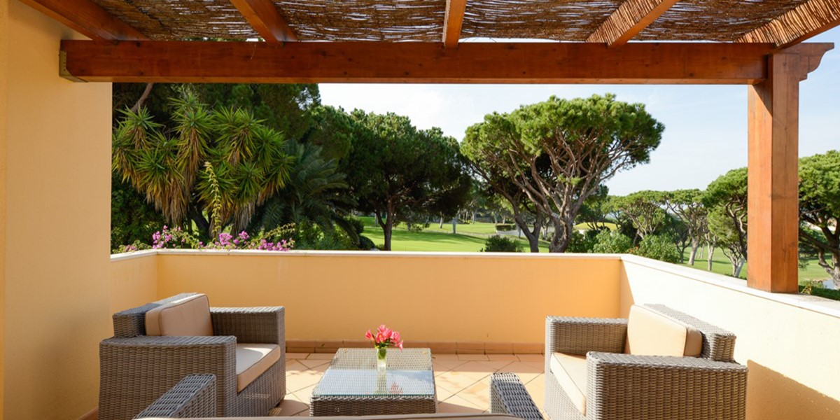 Terrace Overlooking Golf Course Rental Villa Vale Do Lobo