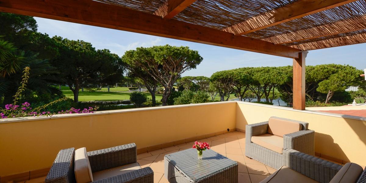 Terrace Overlooking Golf Course Vacation Rental Villa Vale Do Lobo