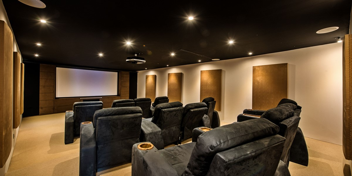 Cinema Room In Luxury Algarve Villa To Rent