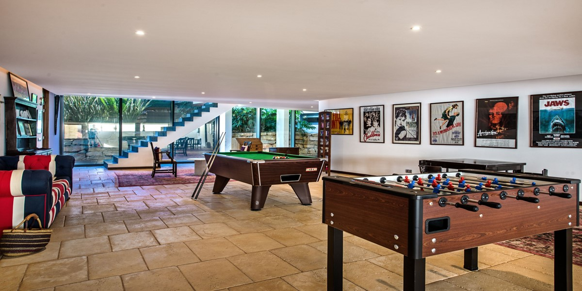Pool Table And Football Table For Kids On Holiday