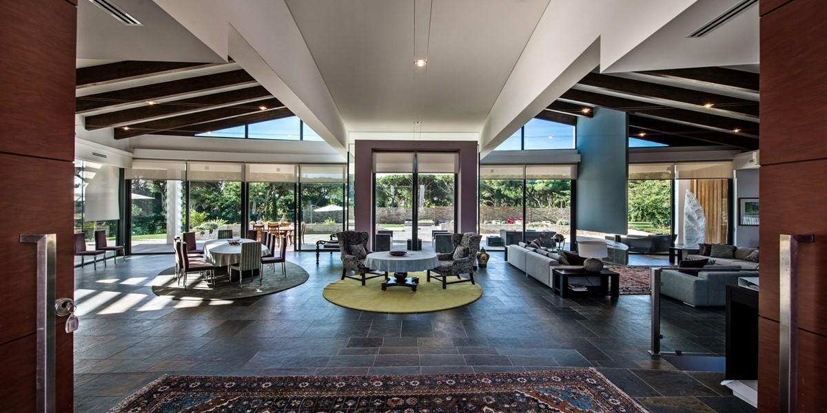 Spaciuos Open Plan Living Room In Luxury Algarve Villa To Rent